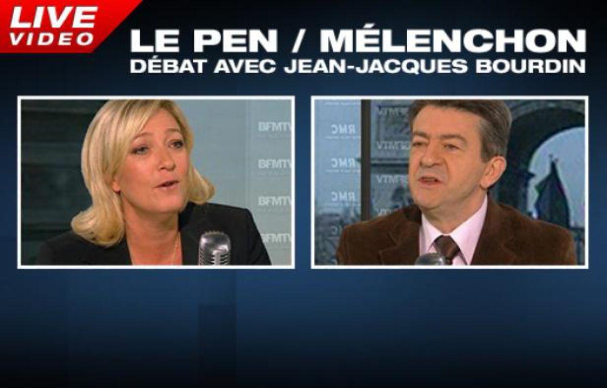 Débat Marine Le Pen, Jean-Luc Mélenchon. – RMC