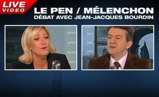 Débat Marine Le Pen, Jean-Luc Mélenchon.