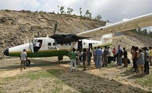 Un Twin Otter DUC-6 de la compagnie aérienne Tara Air le 1er juin 2010, semblable à celui disparu le 24 février 2016 au Népal.