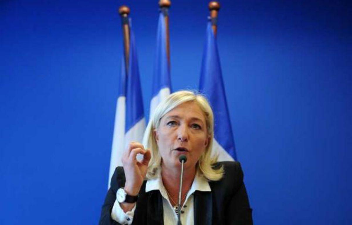 Marine Le Pen lors d'une conférence de presse au siège du Front national à Nanterre, le 14 spetembre 2012. – ANTONIOL ANTOINE/SIPA