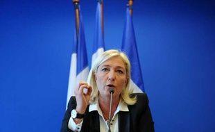 Marine Le Pen lors d'une conférence de presse au siège du Front national à Nanterre, le 14 spetembre 2012.