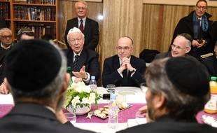 Lors de la rencontre avec la communauté juive de Marseille.