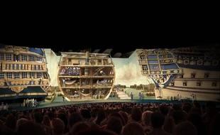 Une tribune tournante de 2.400 places dans la nouvelle salle du Puy du fou