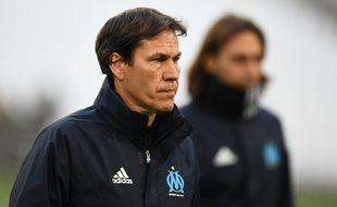 Rudi Garcia, lors d'une séance d'entraînement à Marseille le 9 novembre.