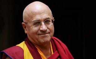 Le moine bouddhiste et auteur Matthieu Ricard à Paris le 16 octobre 2014