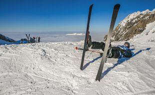 Dans une station de ski des Pyrénées. Illustration.