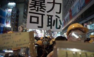 Des manifestants prodémocratie rassemblés dans le quartier de Mongkok, le 19 octobre 2014 à Hong Kong