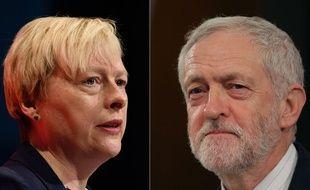 Les Britanniques Angela Eagle et Jeremy Corbyn se disputent la tête du Labour.