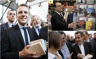 Emmanuel Macron, François Hollande et Nicolas Sarkozy.