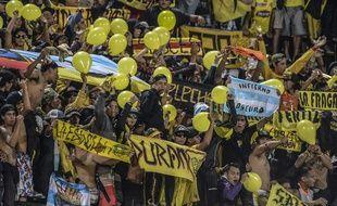 Des supporteurs du Barcelona Sporting Club, en Equateur