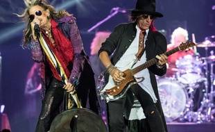 Steven Tyler et Joe Perry à la Meo Arena de Lisbonne en juin 2017
