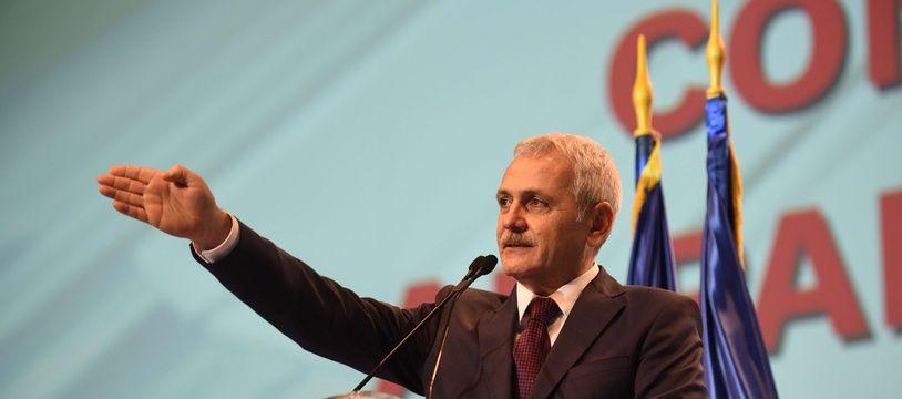 Liviu Dragnea, chef du parti social-démocrate, au congrès du PSD, en mars 2018.
