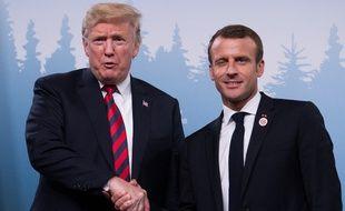 Donald Trump et Emmanuel Macron au sommet du G7 au Canada, le 9 juin 2018.