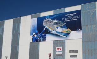 A Saint-Nazaire, le 17 juin 2015- Les chantiers navals STX a Saint-Nazaire