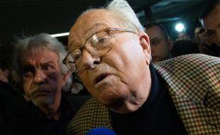 Le président d'honneur du Front National (FN), Jean-Marie Le Pen, le 29 mars 2015 à Carpentras, dans le sud de la France