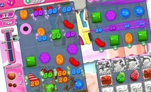 Le jeu Candy crush saga, jeu à succès.