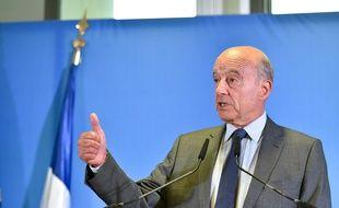 Alain Juppé lors de sa conférence de rentrée à Bordeaux.
