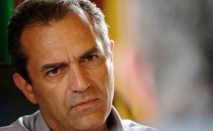 Luigi de Magistris lors d'un interview avec l'AFP le 14 mai 2016 à son bureau à Naples