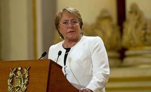 L'ancienne présidente chilienne Michelle Bachelet, à Guatemala City le 30 janvier 2015.