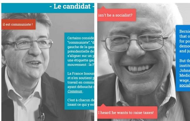Les sites de Jean-Luc Mélenchon et Bernie Sanders.