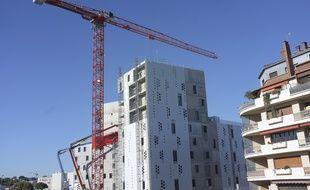 Un immeuble en construction à Montpellier.