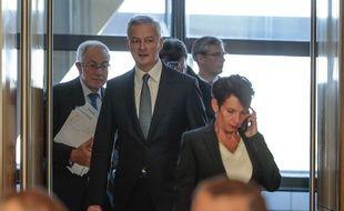 Bruno Le Maire, Ministre de l'Economie et des Finances et les syndicalistes de l'aciérie et les représentants du Valenciennois, ont reçu le soutien de l'Etat, mardi 25 septembre 2018.