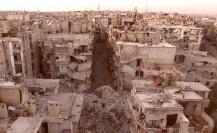 Un quartier d'Alep (Syrie) ravagé par des bombardements.