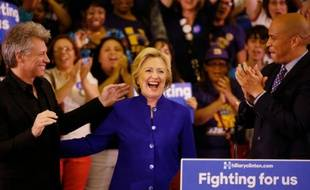 La candidate à la primaire démocrate Hillary Clinton à Newark le 1er juin 2016