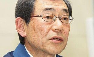 Masataka Shimizu, patron de la société Tepco exploitant la centrale de Fukushima, le 13 mars 2011 au Japon.
