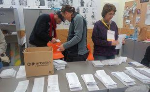 Une bureau de vote à Barcelone le 21 décembre 2017.