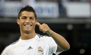 Cristiano Ronaldo lors de sa présentation au Real Madrid, le 7 juillet 2009.