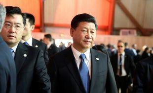 Le président chinois  Xi Jinping à son arrivée à la session plénière de la conférence sur le climat le 30 novembre 2015 au Bourget