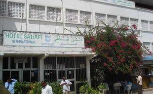 L'hotel Sahafi à Mogadiscio (Somalie) où deux agents français ont été enlevés, mardi 14 juillet 2009, par une douzaine d'hommes armés.