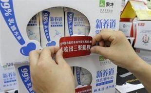 Les autorités chinoises ont annoncé mercredi avoir détecté de la mélamine dans près de 12% des produits à base de lait en poudre au moment où le président Hu Jintao exhortait les entreprises à tirer la leçon d'un scandale qui ternit l'image du pays.