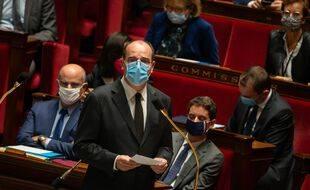 Jean Castex et des membres du gouvernement à l'Assemblée.