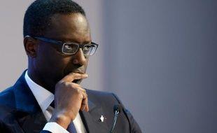 Tidjane Thiam, patron franco-ivoirien de Credit Suisse, le 23 janvier 2016 au Forum économique mondial à Davos en Suisse