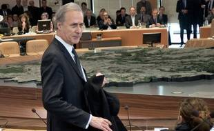 Georges Tron le 2 avril 2015 à Evry.