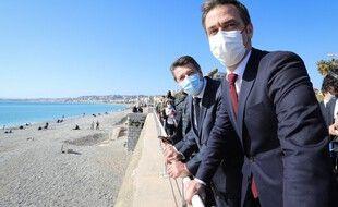 Olivier Véran était à Nice samedi, aux côtés du maire, Christian Estrosi.