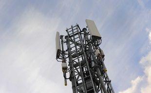 Illustration d'une antenne relais à Nantes.