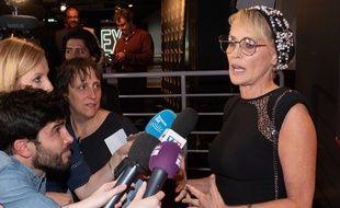 Sharon Stone à la première du film «An Undeniable Voice» à Paris, le 25 juin 2018.