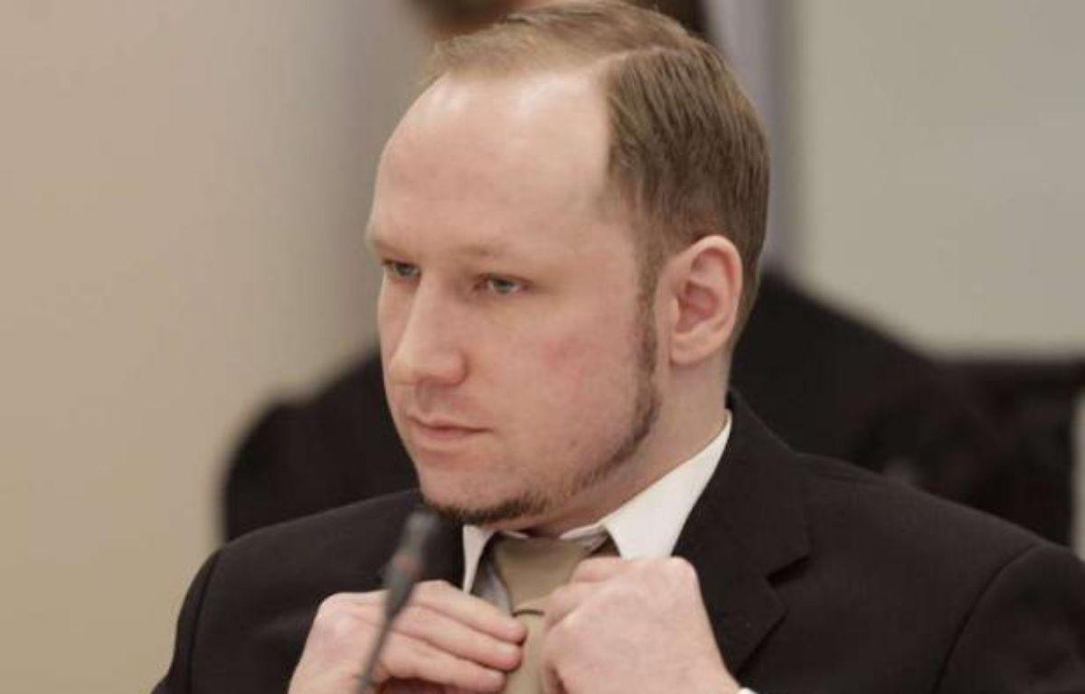 Anders Breivik au deuxième jour de son procès au tribunal d'Oslo, le 17 avril 2012. – F.Augstein/AP/SIPA