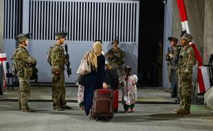 Des soldats américains à l'aéroport de Kaboul, en Afghanistan, le 23 août 2021.
