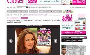 «Closer» annonce que le magazine va publier des photos de Kate Middleton à moitié nue.