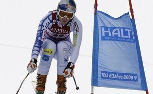 La skieuse américaine Lindsay Vonn, lors de la descente du Super combiné des championnats du monde de Val d'Isère, le 6 février 2009.