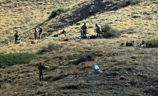 Algerian army troops carry out search operations in the mountainous eastern Tizi Ouzou region in a desperate bid to find French hiker Herve Gourdel who was kidnapped by militants linked to the Islamic State group who have threatened to execute him on September 23, 2014 near the village of Ait Ouaban, 80 km south of Tizi Ouzou. Paris vowed it would not negotiate with jihadists, as the local army raced against time to find him before his threatened execution.   AFP PHOTO / FAROUK BATICHE