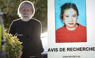 Montage avec les photos de Michel Fourniret, à gauche, et d'Estelle Mouzin, à droite.