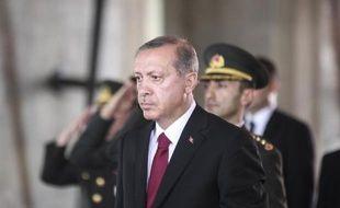 Le nouveau président turc Recep Tayyip Erdogan après son investiture, à Ankara le 28 août 2014