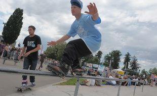 Le NL Contest au skatepark de la Rotonde à Strasbourg. (Archives)