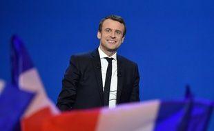 Emmanuel Macron le soir du premier tour de l'élection présidentielle de 2017