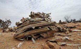 Débris du vol d'Air Algérie, le 26 juillet 2014 dans la région de Gossi